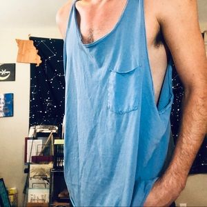 Other - Simple Blue Tank Top With Pocket